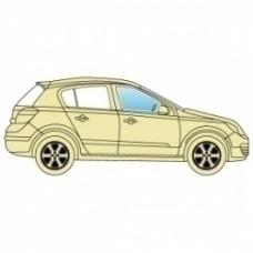 Стекло боковое Toyota Aygo 2005+ переднее правой 3 двери