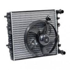 Радиатор Fabia с мотором (вентилятором) охлаждения сквозной