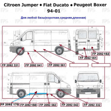 Порог Fiat Ducato / Citroen Jumper / Peugeot Boxer '94-01 правый (Klokkerholm)