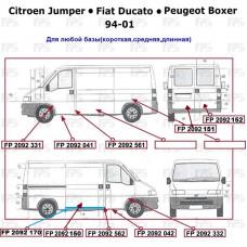 Порог Fiat Ducato / Citroen Jumper / Peugeot Boxer '94-01 левый (Klokkerholm)
