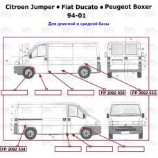 Арка заднего крыла Citroen Jumper, Fiat Ducato, Peugeot Boxer 94-10 длинная база - правая