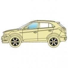 Стекло боковое Hyundai Santa Fe I 2001-2006 переднее левое