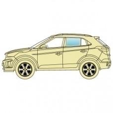 Стекло боковое Acura MDX 2006-2013