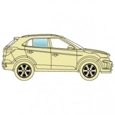 Стекло боковое BMW X5 E53 2000-2006
