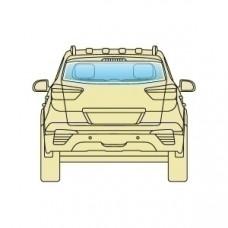 Стекло заднее Honda CRV 2002-2006 ARMOURPLATE открывающееся 6 отверстий