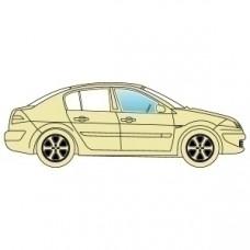 Стекло боковое Chrysler 300C 2005-2011 переднее правое