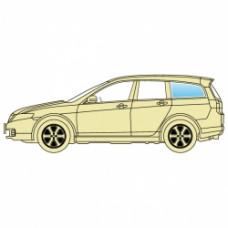 Стекло боковое Dacia Logan 2004-2012 Sdn Mcv заднее левое кузовное универсал