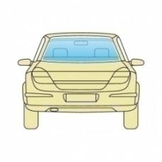 Стекло заднее Ford Focus 2008-2011 Хэтчбек