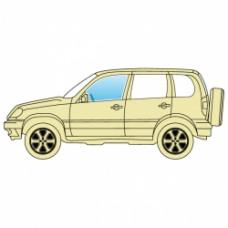 Стекло боковое Jeep Grand Cherokee 2005-2010 переднее левое ТРИПЛЕКС