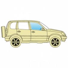 Стекло боковое Jeep Grand Cherokee 2005-2010 переднее правое ТРИПЛЕКС