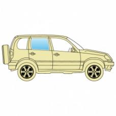 Стекло боковое Jeep Grand Cherokee 2005-2010 заднее правое