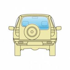 Стекло заднее Jeep Grand Cherokee 2005-2010 Открывающееся