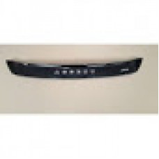 Дефлектор капота (мухобойка) на Хьюндай Акцент с 2010> короткая (на крепжах).