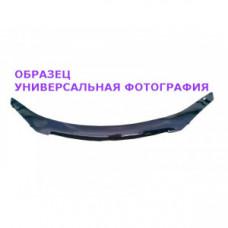 Дефлектор капота (мухобойка) на Ниссан Навара с 05-10 (на крепежах)